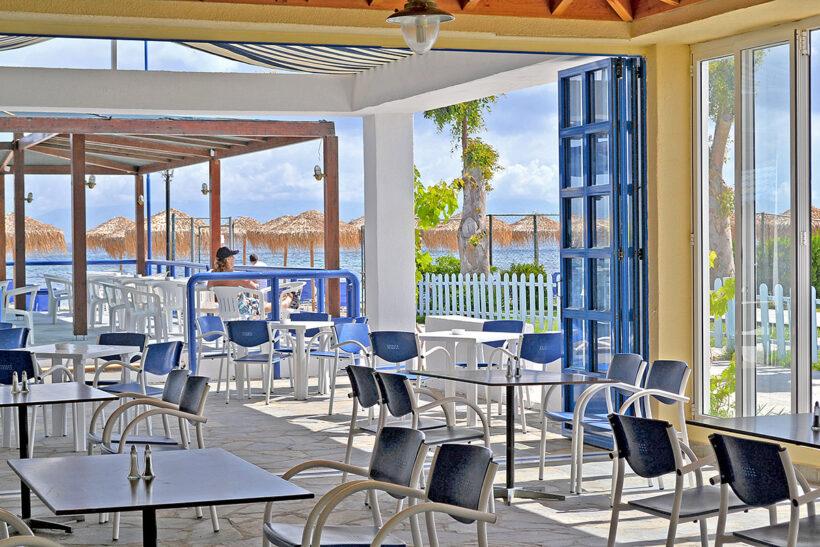 Beach-front Bar Messonghi Beach Hotel Corfu Elite Travel Agency